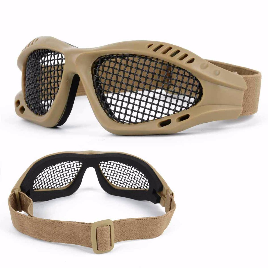 Hiking Eyewears Back To Search Resultssports & Entertainment Collection Here High Quality Hunting Tactical Paintball Goggles Eyewear Steel Wire Mesh Airsoft Net Glasses Shock Resistance Eye Game Protector Attractive And Durable