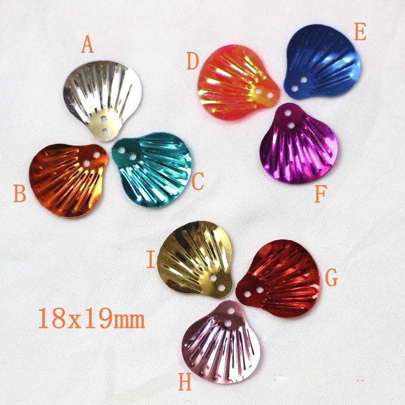 Cirka 1500 Stycken 150g 19mm Shell Paljetter Lösa PVC Paljetter DIY - Konst, hantverk och sömnad - Foto 1