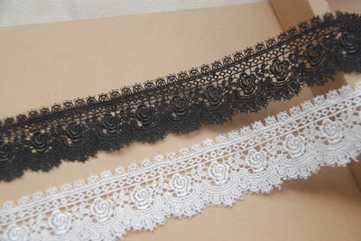Quality DIY Accessories Japanese style rose Water soluble Silk lace edge Width 4cm in Lace from Home Garden