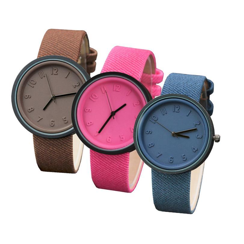 Fashion  Unisex Simple Fashion Number Watches Quartz Canvas Belt Wrist Watch 10.12 popular movie pattern retro watches unisex men women military camouflage belt denim canvas band fashion sport quartz wrist watch