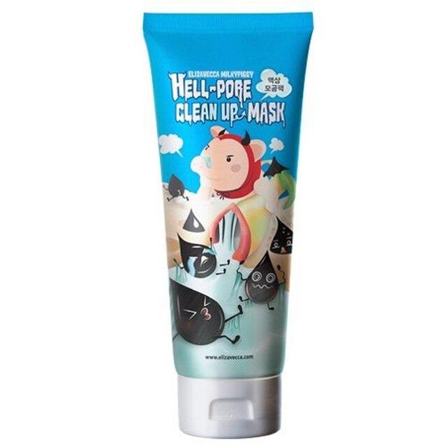 Corea cosmético Elizavecca lechoso cerdito Hell-Pore limpieza mascarilla Facial 100 ml mascarilla Facial removedor de espinillas retráctil poros peel Off