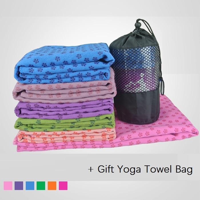 PVC Microfiber Yoga Towel Slip Resistance Non Slip Hot
