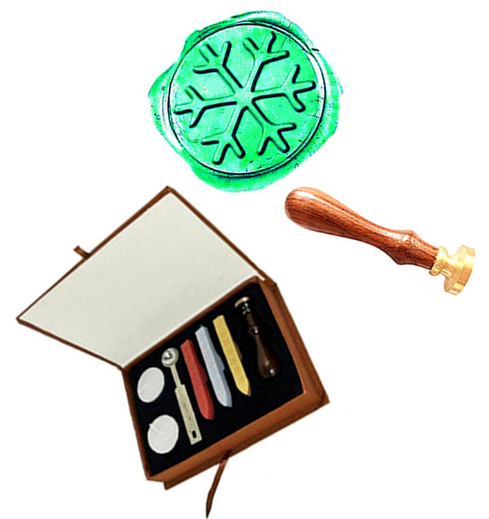 Custom Vintage Christmas Snowflake Wedding Invitation Picture Logo Wax Seal Sealing Stamp Rosewood Handle Set vintage christmas deer horn custom logo wedding invitation gift wax seal sealing stamp rosewood handle set