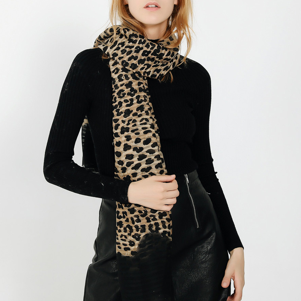 leopard scarf echarpe femme hiver scarf women winter scarfs for ladies for winter sjaals voor dames szaliki i chusty #4O29