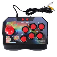 Retro Gra arkade joystick kontroler do gry wtyczka Av Gamepad konsoli z 145 gier dla Tv Classic Edition Mini konsola do gier Tv(China)
