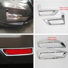 Yimaautotrims Front & Rear Fog Lights Lamp Foglight Decoration Cover Trim Fit For Nissan Rogue X-trail X Trail T32 2017 2018