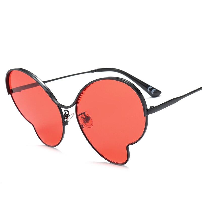HBK Oversized Cat Eye Sunglasses Women 2018 New Luxury Brand Red ...