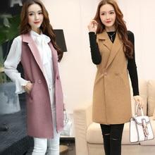 New Spring Women High Quality Elegant Vest Slim Long Female spring and autumn Sleeveless Coat Jacket Waistcoat