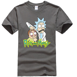 Męska wysokiej jakości koszulka 100% bawełna crewneck luźne rick i morty drukowane mężczyźni Tshirt dorywczo dzianiny MĘSKA KOSZULKA topy 4