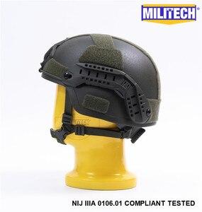 Image 3 - MILITECH Oliver Drab OD MICH NIJ Level IIIA Tactical Bulletproof Aramid Helmet ACH ARC OCC Dial Liner Aramid Ballistic Helmet