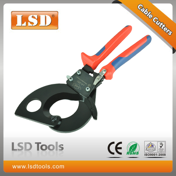 Фотография LK-280 electrical wire cable cutter for cutting HV/MV cables 52mm diameter cutter 380mm2 750AWG ratchet cable cutting plier