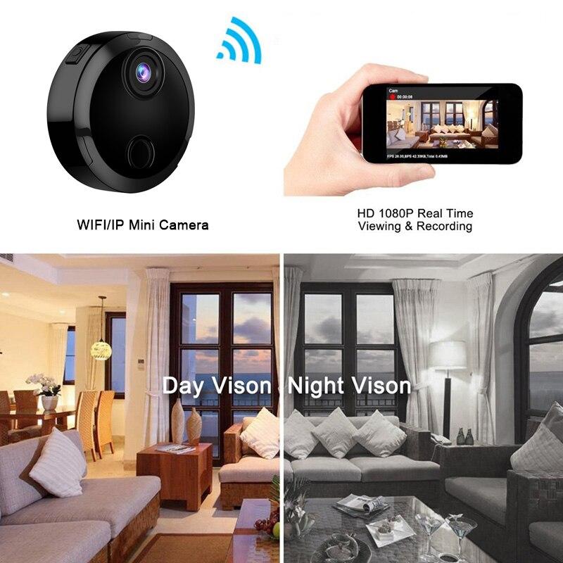 1080 P Wifi Mini caméra IP réseau caméscope capteur infrarouge Vision nocturne mouvement soutien caché TFcard enregistrement vidéo voiture DV