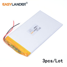 3pcs/Lot three.7V 5065115 3900mAh lithium Li ion polymer rechargeable battery For GPS ipod PSP Pill PC Mobiles Backup Energy