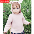 BEKE MATA Baby Girl Sweater Winter 2016 Casual Rabbit Cotton Knitted Sweaters For Girls Hooded Boy Pullovers Children's Sweaters