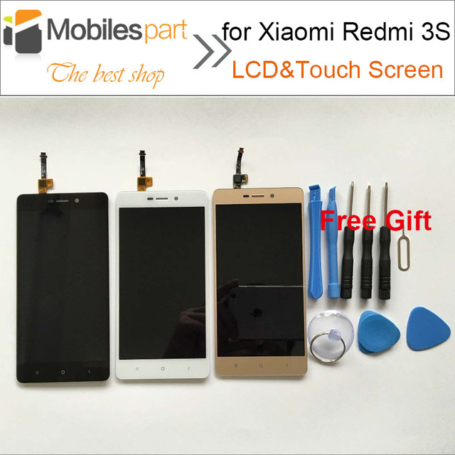 Tela de lcd para xiaomi redmi 3 s alta qualidade substituição display lcd + touch screen para xiaomi redmi 3 s/3 s pro/prime 5.0 polegada