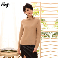2019 Autumn Women Pullover Sweater Korean Turtleneck Jumper Knitted 100% Pure Cashmere Sweater White Sweater Female Casual Tops