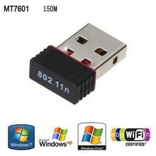 Adaptador sem fio 150 M Mt 7601 150 Mbps USB 2.0 Wi-fi Sem Fio receptor wi-fi de Rede Mini Cartão de Rede da linha de transmissão Adaptador LAN