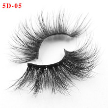 High quality 3D real mink 25mm lashes luxury strip custom packaging crystal box