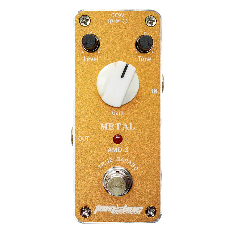 ФОТО Tomsline AMD-3 Metal distortion guitar effect pedal Mini Analogue Effect Truebypass AROMA