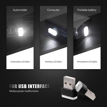 Car USB LED Atmosphere Lights Decorative Lamp PC Plug Stickers For BMW E34 F10 F20 E46 E39 E38 E90 E60 E36 F30 M E92 E38 E91 E53 image