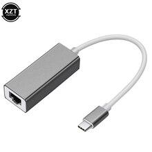 Внешний проводной USB C Ethernet адаптер сетевой карты Тип usb-C для оптоволкна вай-RJ45 локальной сети для MacBook Windows 7/8/10 ноутбука 10/100 Мбит/с