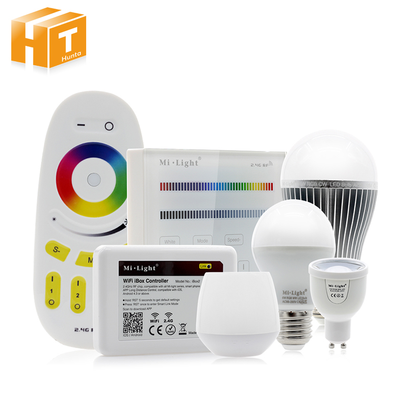 Mi Light RGB LED Bulb AC86-265V GU10 5W / E27 6W 9W RGBWW / RGBCW Remote Control Smart Lighting ...