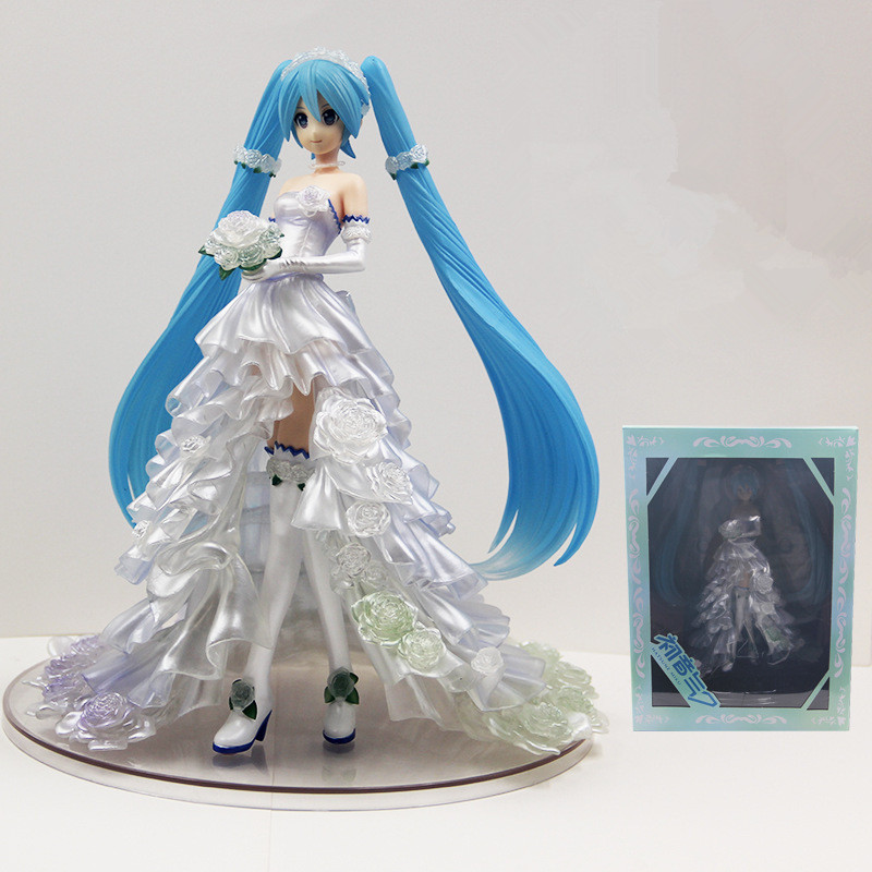Anime Hatsune Miku Bride Wedding Dress Ver. Statue Figure Model ToysAnime Hatsune Miku Bride Wedding Dress Ver. Statue Figure Model Toys