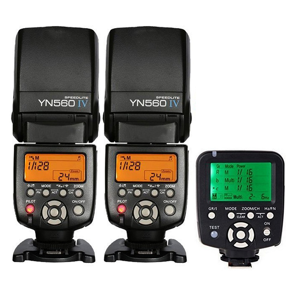 Yongnuo 2x YN-560 IV YN560IV YN560 IV Universal Wireless Flash Speedlite + YN560-TX trigger For Canon DSLR yongnuo yn560iv yn560 iv yn 560 flash speedlite for canon nikon olympus pentax with yongnuo rf603 ii wireless flash trigger