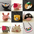 13 patterns of animal wallet 2016 Girls Small Kitten Coin Purse Baby Kids Mini Messager Bag Fashion Latest children Coin Purse