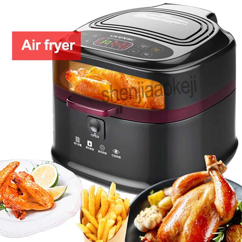 NEW Intelligent Air Fryer large capacity Non-oil Fries/ chicken /shrimp Household Multifunction electric Oven 220v 1200w 1pc
