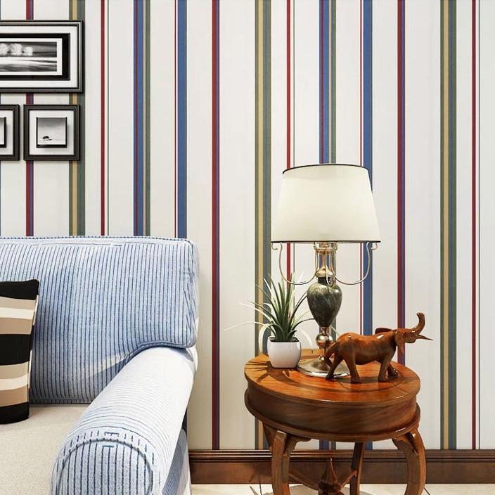 ФОТО Pure green paper wallpaper minimalist fashion living room Mediterranean- colored stripe wallpaper background wallpaper bedroom f
