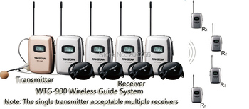 Takstar WTG-900 19-person Tour Group Guide/Assistive Listening System Package Church coaching meeting 1 Transmitter 19 Receivers
