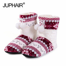 New Style Winter Home Warm Floral Long Tube Cotton Boots Wholesale Home Soft Bottom Fresh Indoor Women's Girl Adult Cotton Shoes