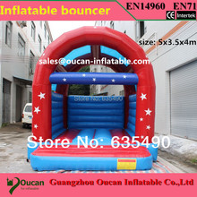 5×3.5x4m PVC tarpaulin inflatable bouncer/bounce house with blower