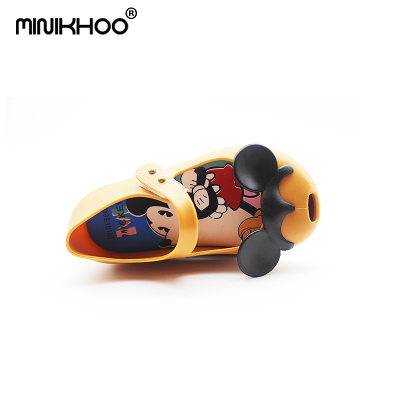 Mini Melissa Mickey Minnie Girl Jelly Sandals Cute Princess Sandals Breathable Baby Sandals Girl Beach Shoes High Quality
