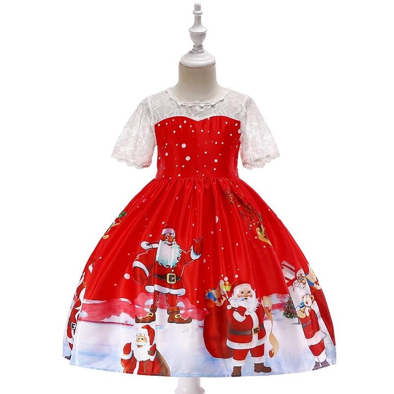 Weihnachten Kleid Kinder Party Santa Claus Kostüm Geschenk 3-10 jahre alte Baby Winter Schneemann Urlaub Neue Jahr Mädchen kinder Kleidung