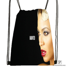 Custom Beyonce Drawstring Backpack Bag for Man Woman Cute Daypack Kids Satchel (Black Back) 31x40cm#180531-01-04