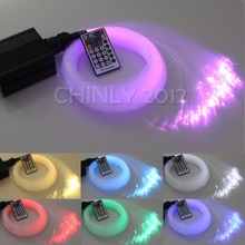 16W RGBW 28Key RF remote LED Fiber Optic Star Ceiling Lights Kit 450pcs 3M 0 75mm