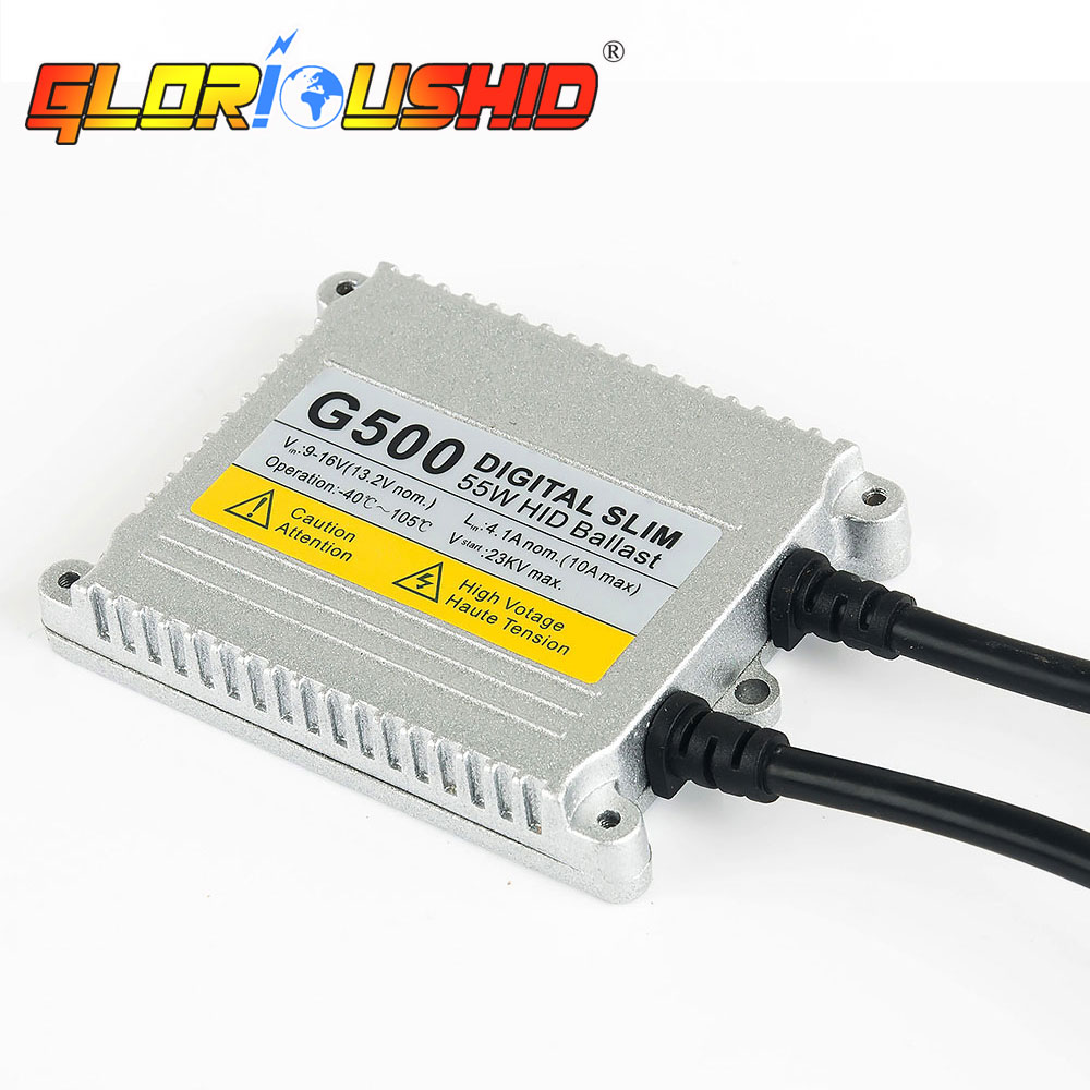 1 set h4 lampe xénon AC 55 W G500 hid kit de conversion lumière xénon 9007 H13 bi xénon 4300 k 5000 k 6000 k 8000 k h4 hi faible Ballast HID - 4