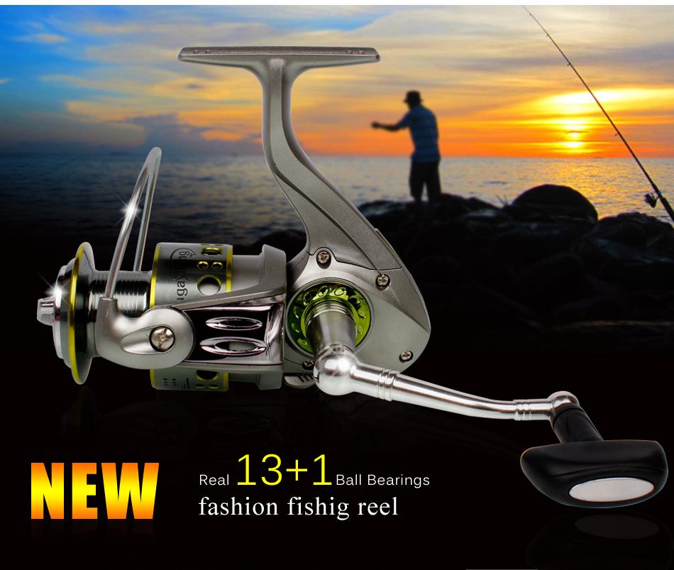 Prix pour Sougayilang 2000-5000 moulinet spinning 13 + bb feeder bobine de pêche au gros carpe gauche droite mer moulinet de pêche eau salée peche bobine