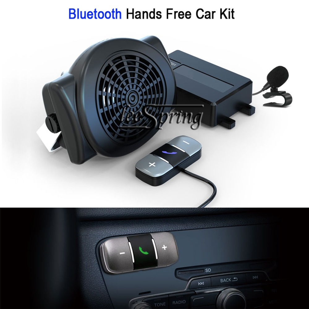 Bluetooth Hands Free Car Kit suitable all types vehicle Support 2 phones Auto Connect With Speaker стоимость