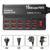 10 USB 2 0 Ports 5V 12A Charger Power Adapter Charging Station Universal For IPhone For