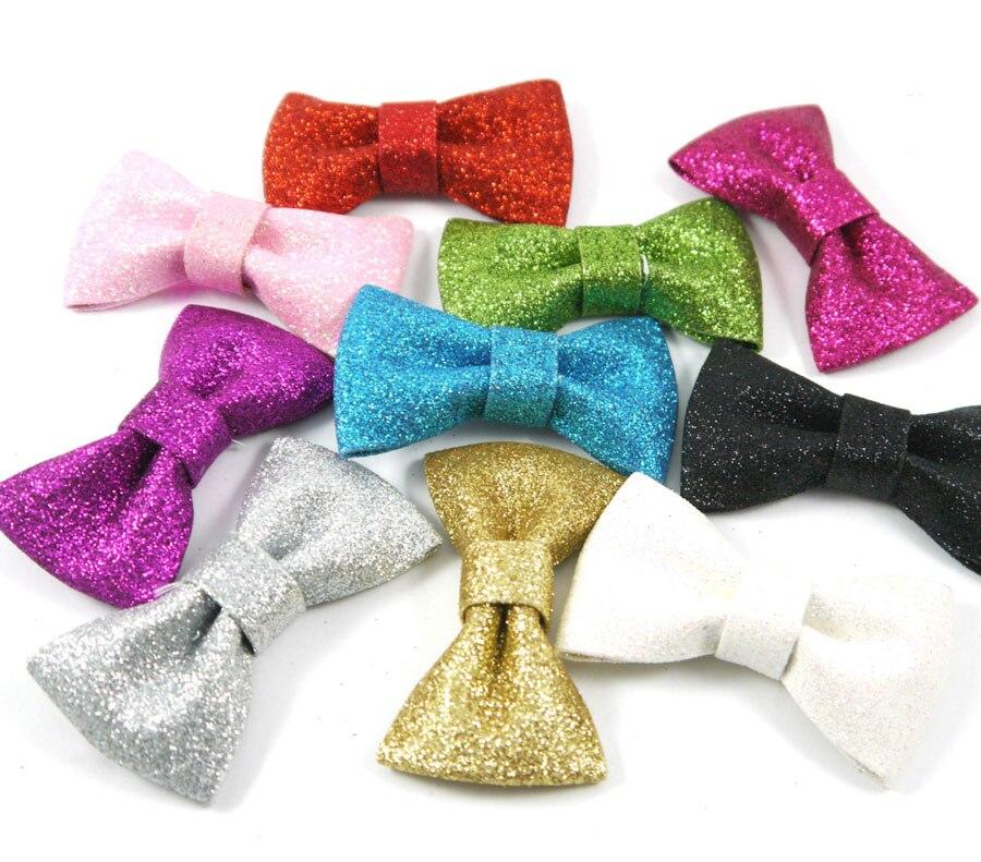 colors fancy glitter bows