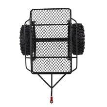 Metal Drag Hitch Mount Tow Trailer Bucket Vehicle Model Accessories Children Toys For 1/10 RC Car D90 SCX10 CC01 TRX-4