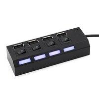 4/7 порты и разъёмы УСБ хаб с USB 2, 0 хаб многопортовый сетевой USB-адаптер с на/выключения или ЕС/США мощность адаптер для MacBook ПК ноутбука тетрадь