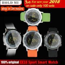 Купить онлайн Удерживайте mi EX18 Спорт Смарт часы Водонепроницаемый IP68 5ATM шагомер Xwatch плавать mi нг Smartwatch Bluetooth часы IOS Android