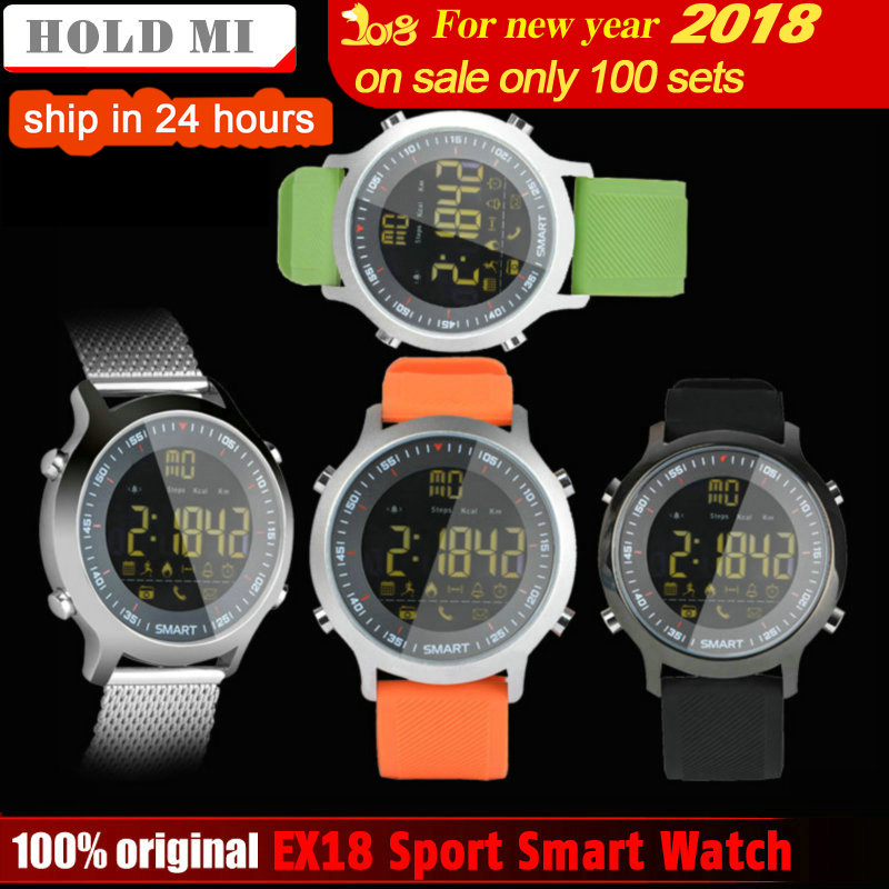 Hold Mi EX18 Sport Smart Watch Waterproof IP68 5ATM Passometer Xwatch Swimming Smartwatch Bluetooth Watch IOS Android