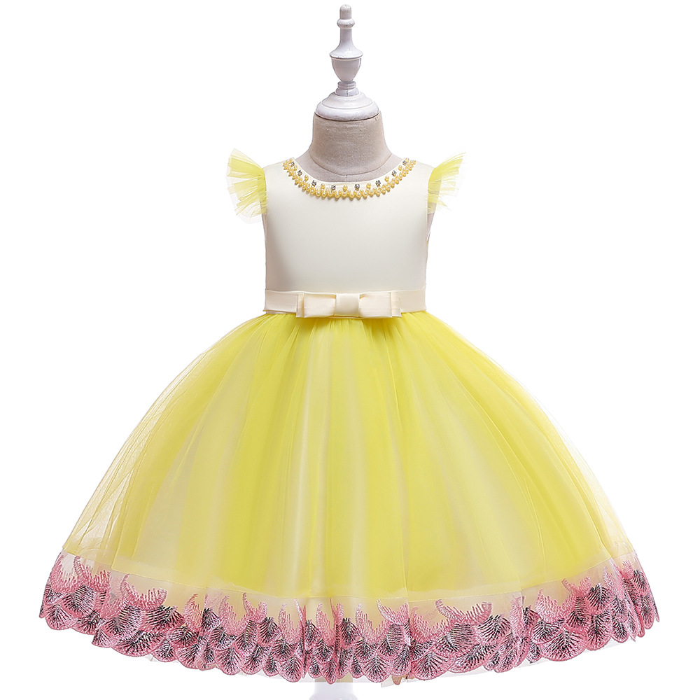 Good Design Ballgown Yellow Tulle Tutu   Dresses   Wedding Pageant Dresse Party   Girls   Gowns First Communion   Dresses
