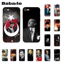 Babaite Turkey Mustafa Kemal Ataturk Cover Black Soft Shell Phone Case for iPhone 8 7 6 6S Plus X XS MAX 5 5S SE XR 10 Cover(China)