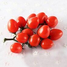 Муляжи фруктов маленький томатный поддельные модели орнаментов реквизит для фотографий святое искусственное фруктовое декоративное украшение оконные витрины